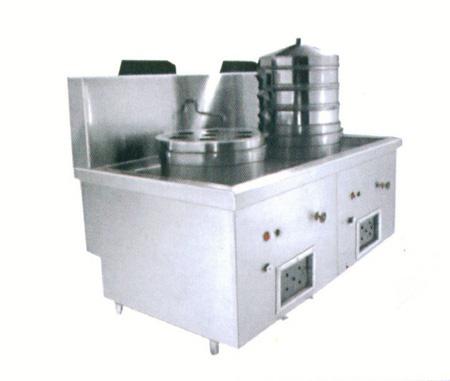 中餐商用厨房设备双头蒸汽炉